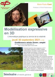 "SFP Mari-Paule CANI ""Modélisation expressive 3D"""